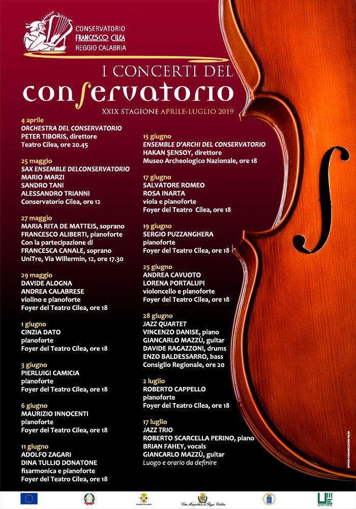Calendario Concerti Calabria.Xxix Stagione Concertistica Calendario Eventi Aprile Luglio