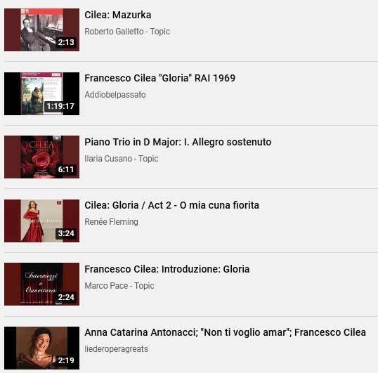 cilea playlist 2020