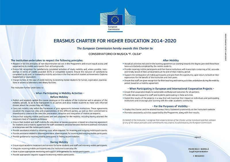 Erasmus Charter HIgher Education I REGGIO03